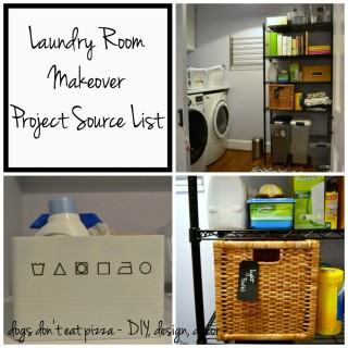 laundry room makeover project source list - Dogs Don't Eat Pizza