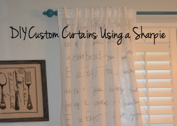 DIY Custom Curtains with a Sharpie - dogsdonteatpizza.com