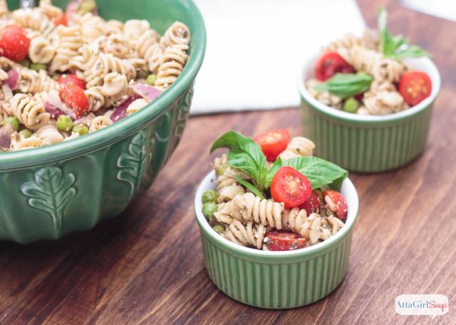 pesto-pasta-salad-recipe- fast and fresh summer recipes - Mohawk Homescapes
