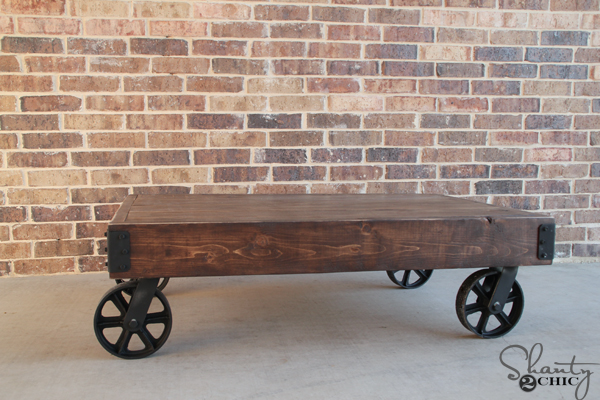 DIY-Factory-Cart-Coffee-Table from Shanty 2 Chic - industrial chic - Mohawk Homescapes