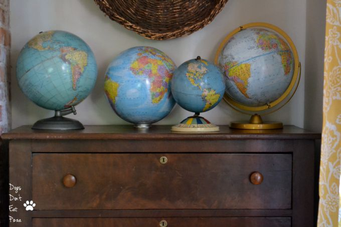 decorating with globes - dining room - Dogs Don't Eat Pizza