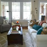 Getting back in the DIY saddle - Living room with fall colors - dogsdonteatpizza.com