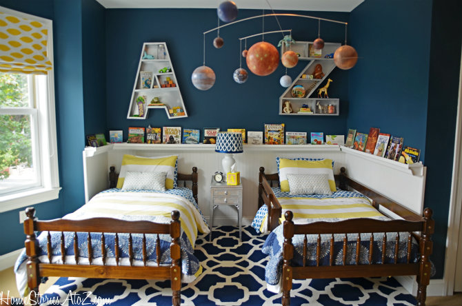 boys' bedroom twin beds with large rug - how to arrange furniture around an area rug - Mohawk Homescapes