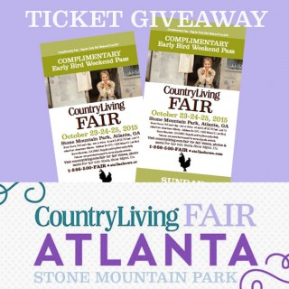 Ticket giveaway to the Country Living Fair in Atlanta / dogsdonteatpizza.com