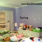 When your child asks to have her room painted a bold or bright color, just paint the room. At dogsdonteatpizza.com