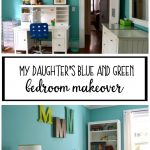 My daughter's blue and green bedroom makeover - dogsdonteatpizza.com