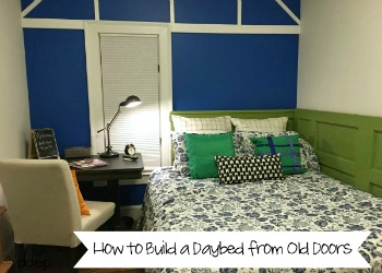 How to Build a Daybed from Old Doors - dogsdonteatpizza.com