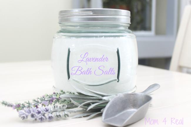 Add personality to your bath decor - Lavender-Bath-Salts from Mom4Real - adding personality to your bath - mohawkhomescapes.com