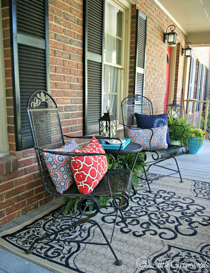 Southern traditions to keep alive mohawk homescapes for Front deck furniture ideas