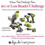 Power Tool Challenge - $10 or less reader challenge - dogsdonteatpizza.com
