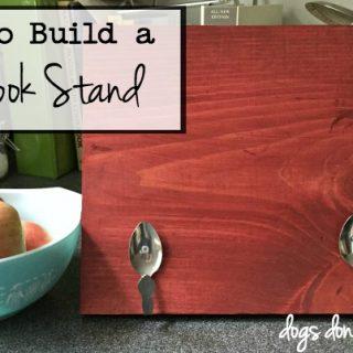 How to Build a Cookbook Stand - dogsdonteatpizza.com