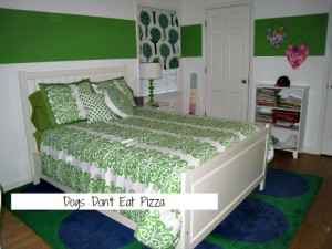 It's not easy being green - planning my daughter's green bedroom - thediybungalow.com