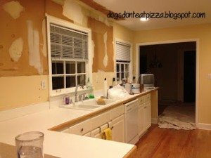 empty kitchen before reno - Dogs Don't Eat Pizza