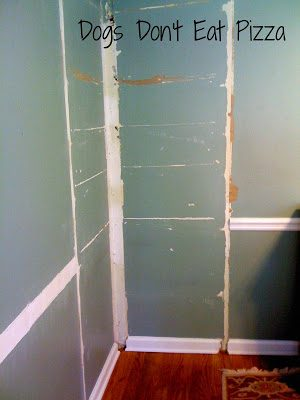 My first DIY project was tearing out a corner built-in - thediybungalow.com