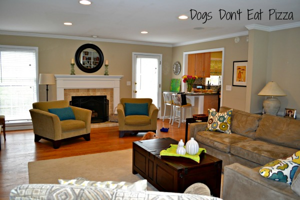 living room fireplace side - Dogs Don't Eat Pizza