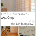 Curtain Call: DIY Custom Curtains with a Sharpie