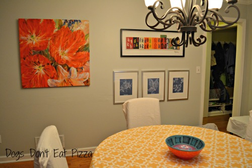 new dining room gallery wall