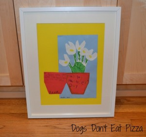How to frame oddly shaped art, perfect for displaying Mother's Day cards from kids