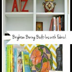 Brighten Boring Built-Ins with Fabric