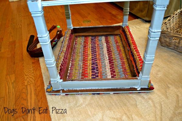 underside of table