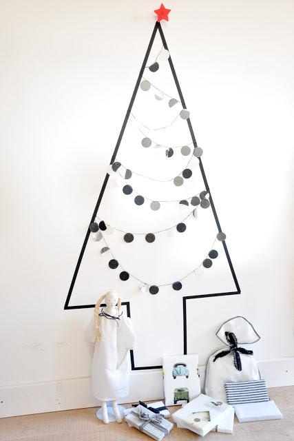 Washi tape Christmas tree