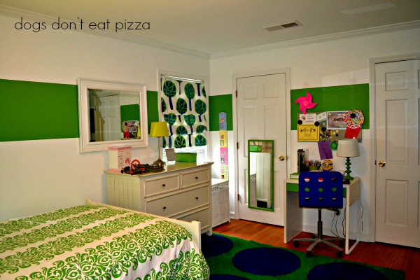 daughter room rearranged - from doorway - Dogs Don't Eat Pizza