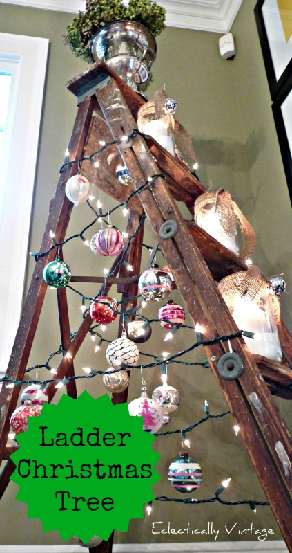 Ladder Christmas Tree from Eclectically Vintage