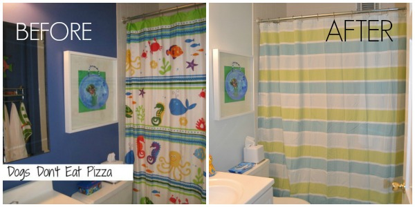 kids' bath before and after - Dogs Don't Eat Pizza