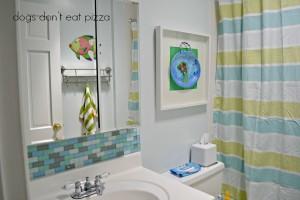 finished kids bathroom with backsplash - thediybungalow.com