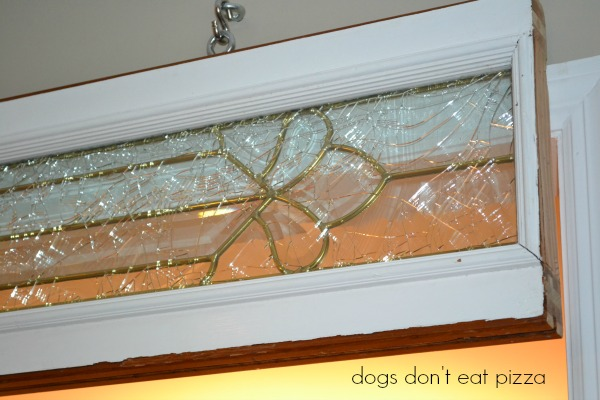 broken but beautiful salvaged window - Dogs Don't Eat Pizza