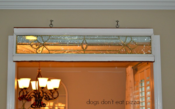 salvaged window hung - Dogs Don't Eat Pizza