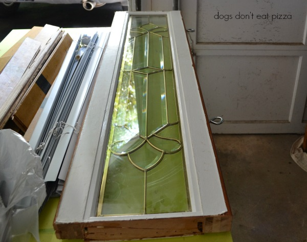 salvaged window ready to hang - Dogs Don't Eat Pizza