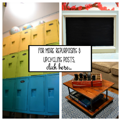 For more upcycling and repurposing posts click here - thediybungalow.com