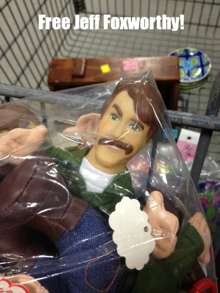You never know what you'll find at the thrift store - Jeff Foxworthy dolls - thediybungalow.com