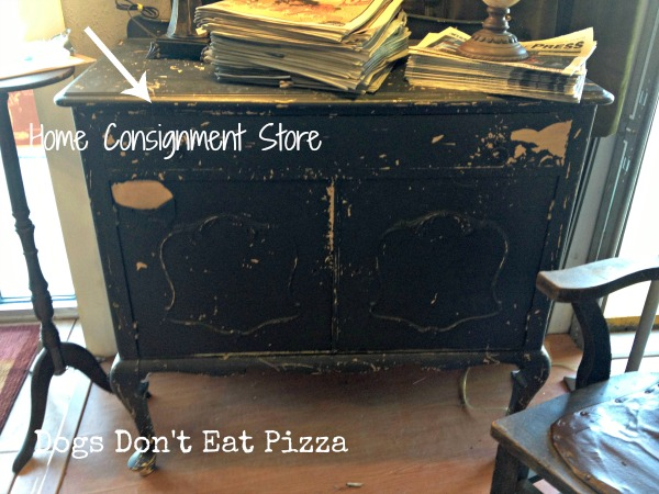 Shabby painted chest - top five tips for shopping at thrift stores - Dogs Don't Eat Pizza