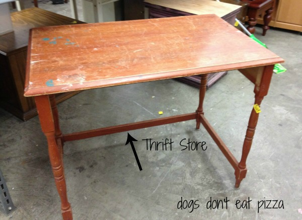 desk found at the thrift store - thediybungalow.com