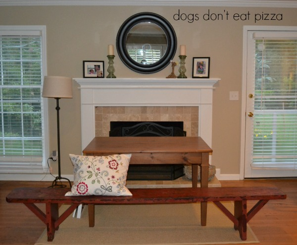 vintage school bench gets a new home - Dogs Don't Eat Pizza