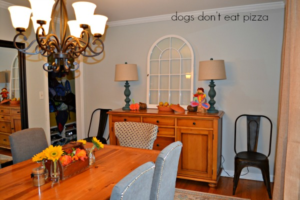 Finished dining room redecorated - thediybungalow.com