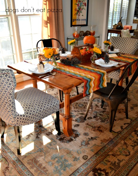 Decorating for fall in the dining room reveal - thediybungalow.com