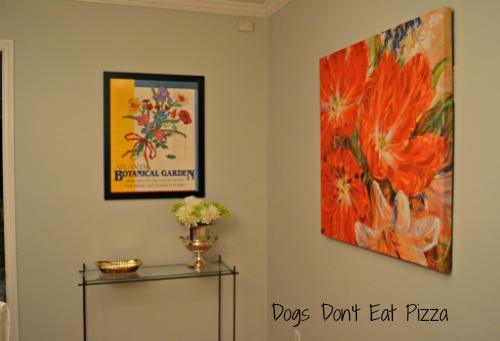 far wall and flowers - table- Dogs Don't Eat Pizza