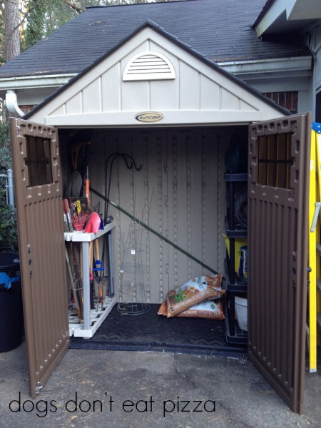 This shed is pretty but so hard to construct so here's how to stay sane during a DIY project - thediybungalow.com