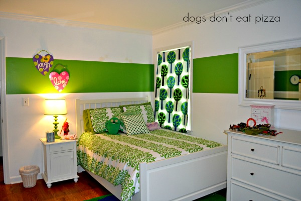 daughter's room rearranged - bed side view - Dogs Don't Eat Pizza