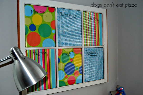 Memo board from old window - thediybungalow.com