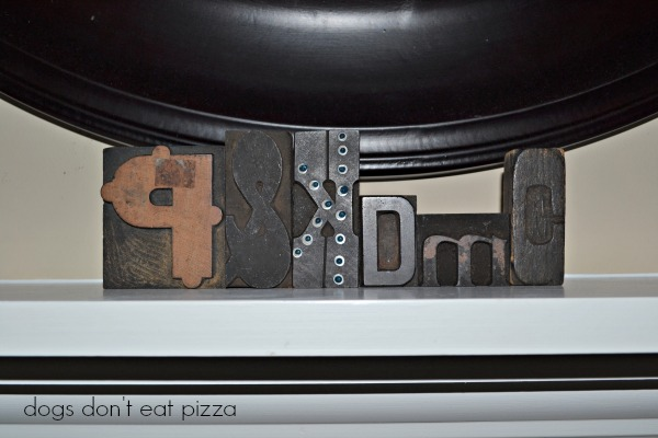 printing blocks initials - Dogs Don't Eat Pizza