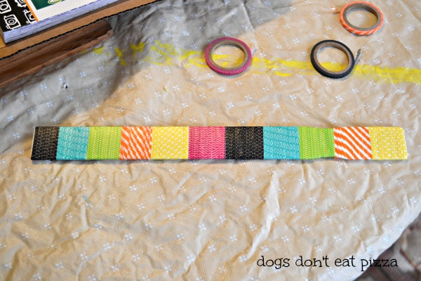 Paint stick clipboard with washi tape updating window memo board - thediybungalow.com
