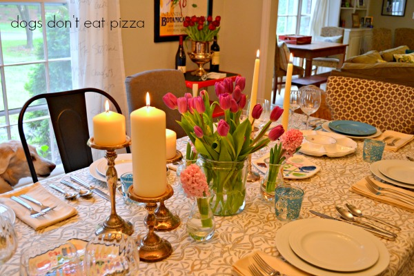 Passover-table-centerpiece - Dogs Don't Eat Pizza