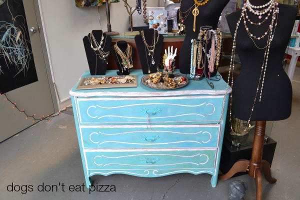 antique-dresser-as-display - Dogs Don't Eat Pizza