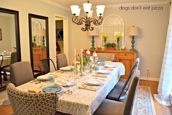 dining-room-Passover-table - Dogs Don't Eat Pizza
