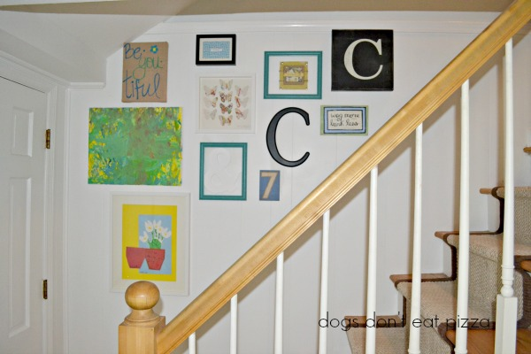 gallery-wall-stairwell-finished - Dogs Don't Eat Pizza