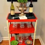 Industrial Kitchen Cart into Bar Cart
